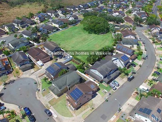Celebrations Houses in Wakele - Aerial Photo