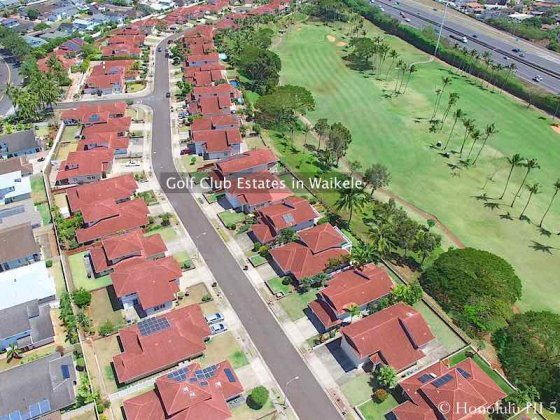 Golf Club Estates Houses in Waikele - Aerial Photo