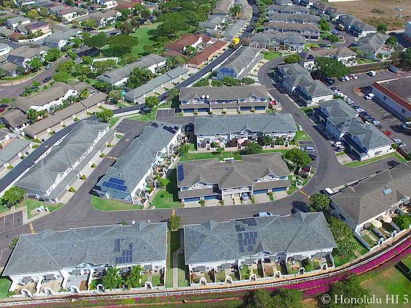 Mariners Place Townhomes in Ewa's Ocean Pointe - Aerial Photo