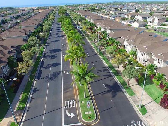 Hoakalei Homes On Beautiful Street With Abundance of Palm Trees