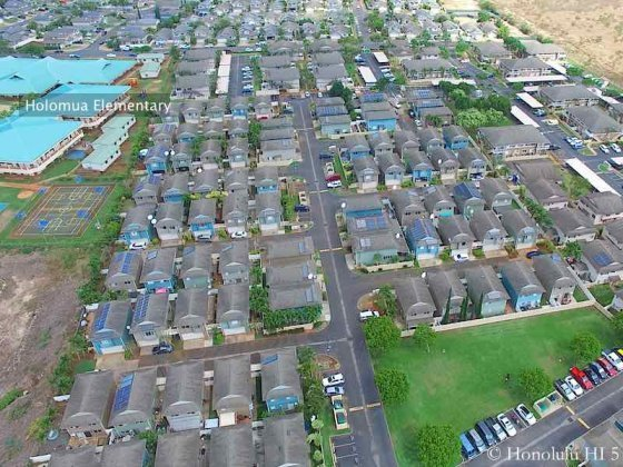 Lombward Way Townhomes in Ewa - Aerial Photo