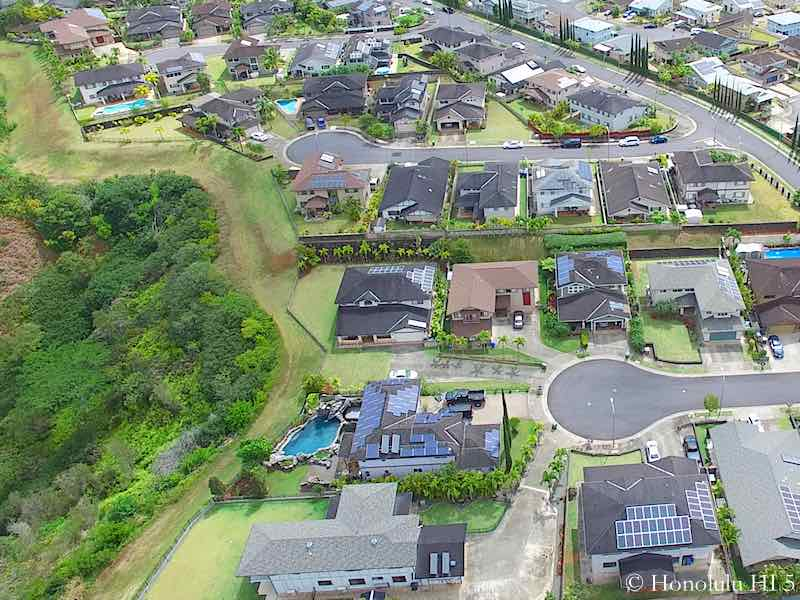 Stunning Mililani Mauka Homes - One With Pool. Aerial Photo