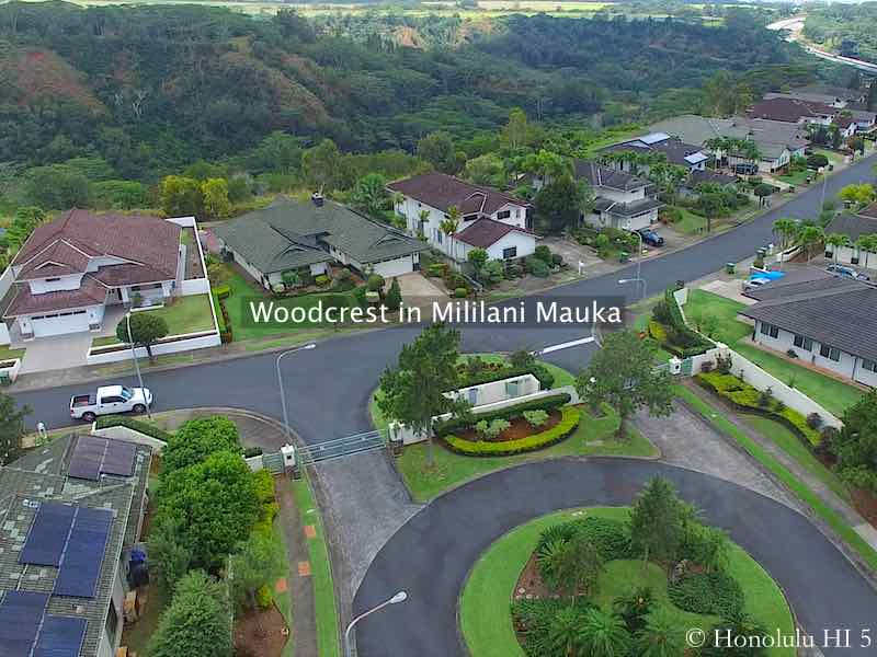 Woodcrest in Mililani Mauka Homes - Aerial Photo