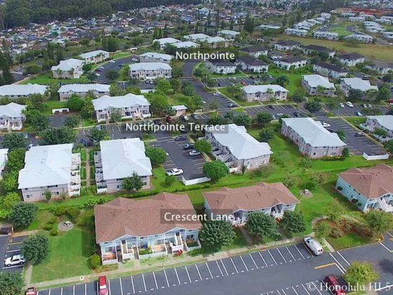 Northpointe Mililani Mauka Aerial Photo. Also Shows Northpointe Terrace and Crescent Lane