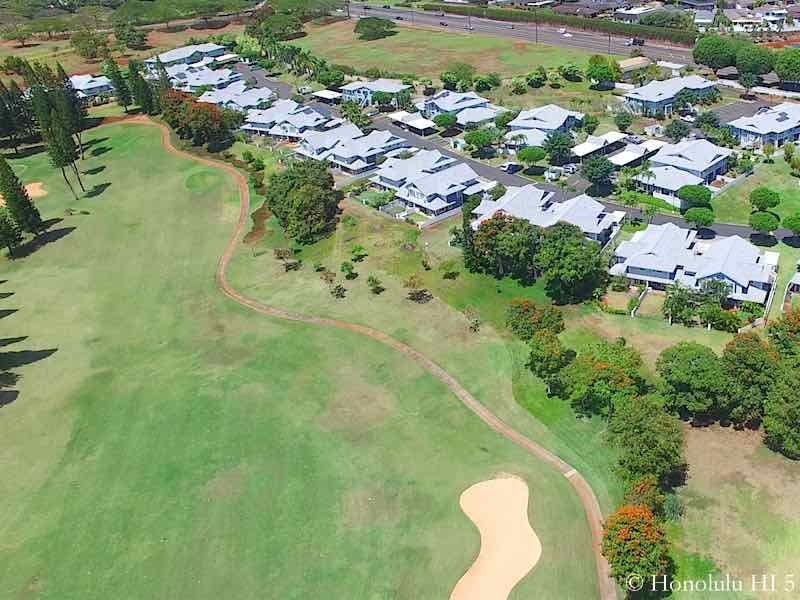 Fairway Village Waikele Golf Front - Aerial Photo