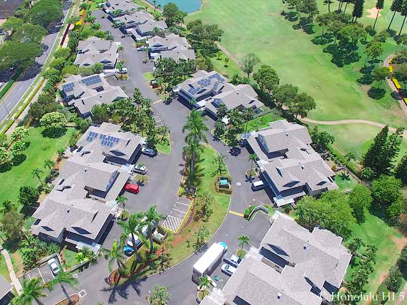 Green at Waikele Aerial Photo