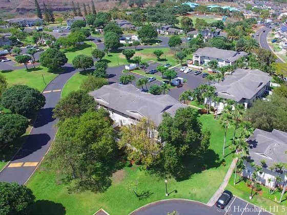 Parkglen at Waikele Surrounded by Lush Green - Aerial Photo