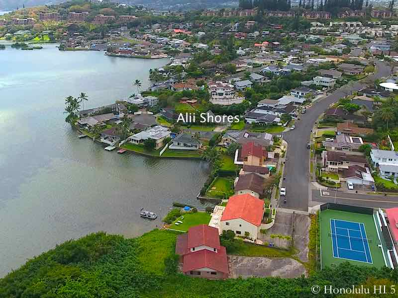 Alii Shores Kaneohe Homes - Aerial Photo
