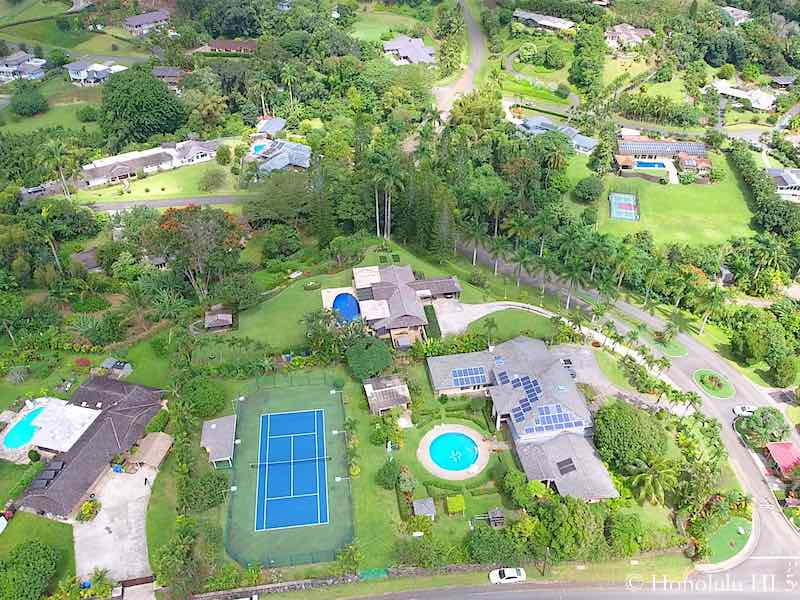 Haiku Luxury Homes with Pools - Aerial Photo