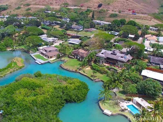 Kaneohe Homes On the Water - Aerial Photo