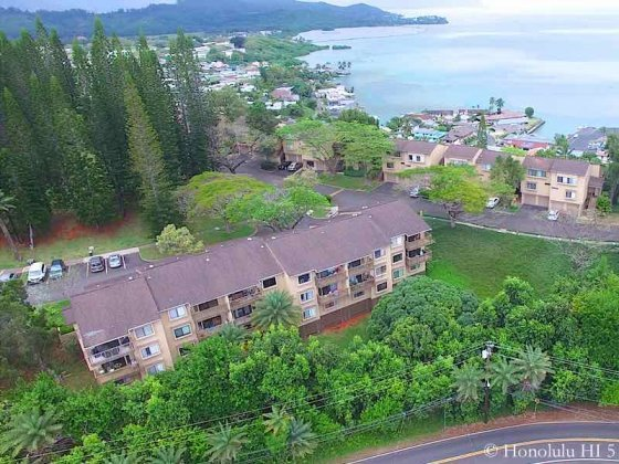 Puu Alii Condos With Kaneohe Bay in Backdrop - Aerial Photo