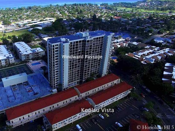 Koolau Vista Condo in Kailua and Windward Passage - Aerial Photo