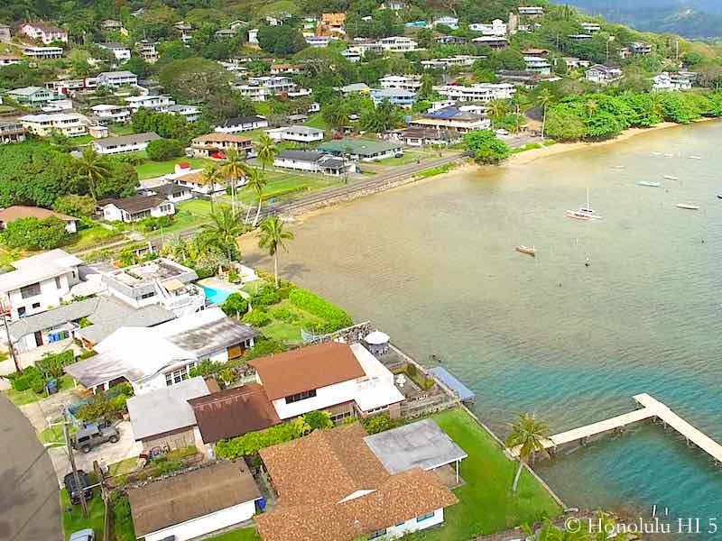 Lulani Ocean Waterfront Homes - Aerial Photo