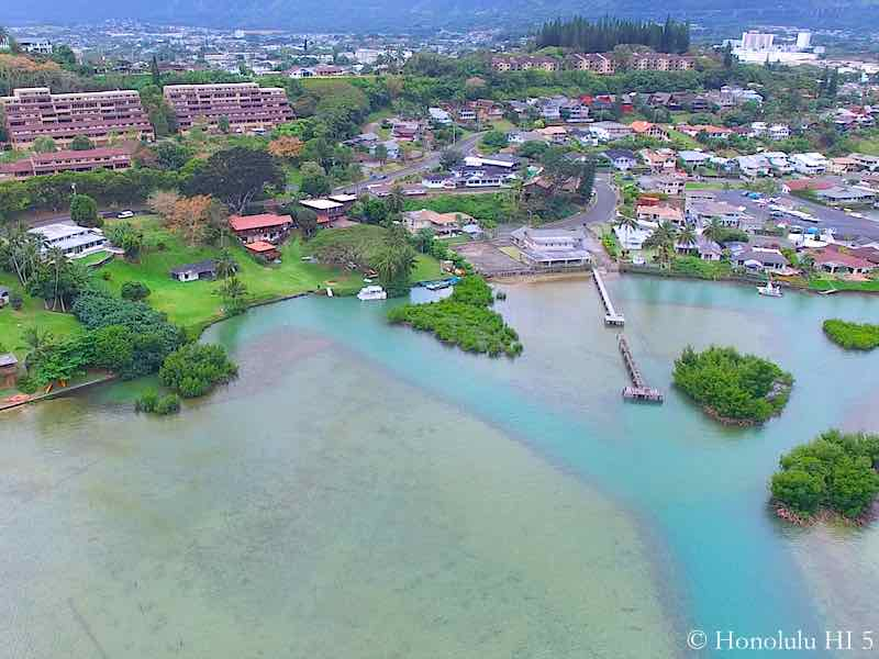Lilipuna Bayfront Homes in Kaneohe - Aerial Photo