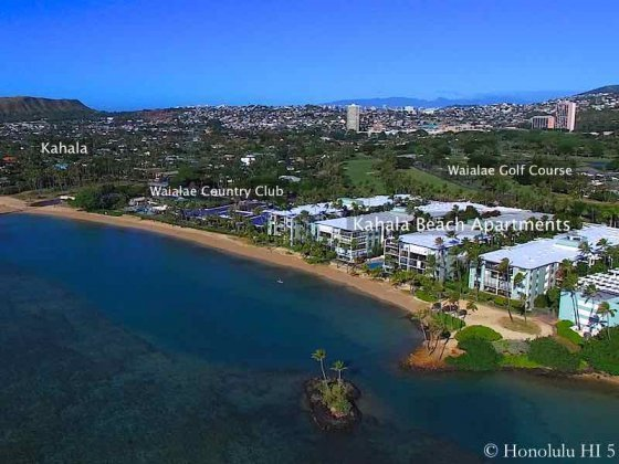 Kahala Beach Apartments - Aerial Drone Photo