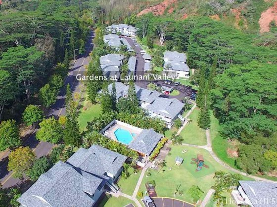 Gardens at Launani Valley Condo - Aerial Photo
