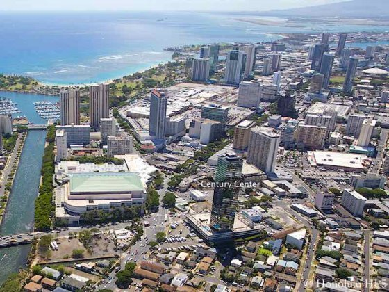 Century Center Honolulu Condo - Aerial Photo