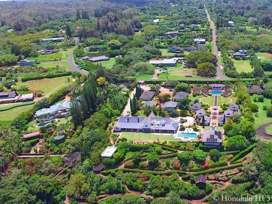 Pupukea Luxury Estate Style Home - Aerial Photo