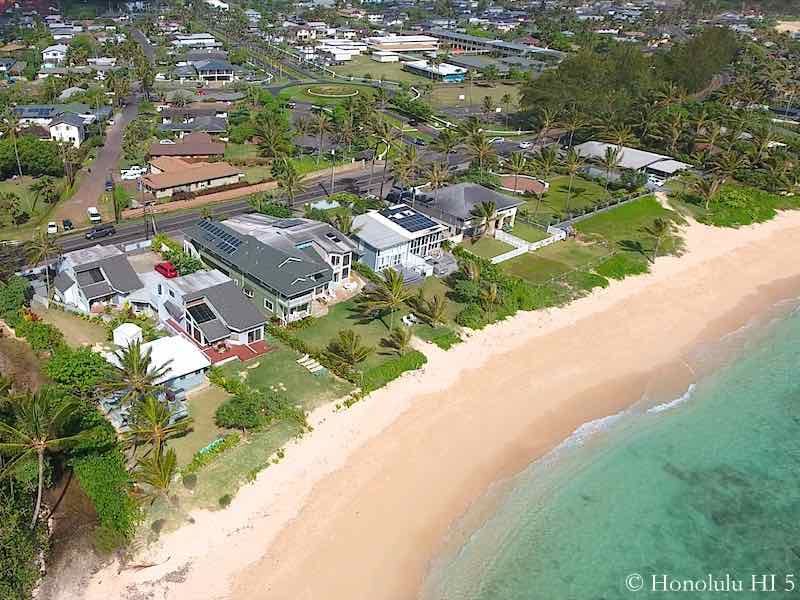 Laie Beachfront Homes - Aerial Photo