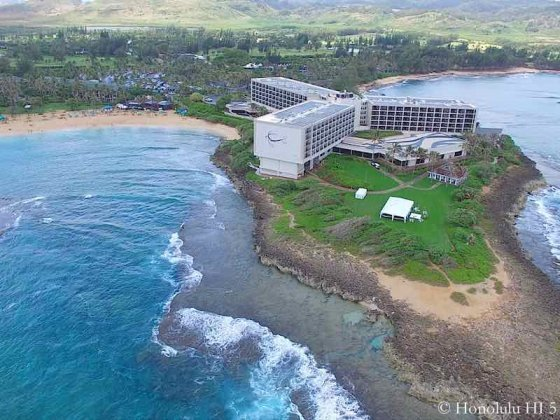 Turtle Bay Resort in Kuilima - Aerial Photo