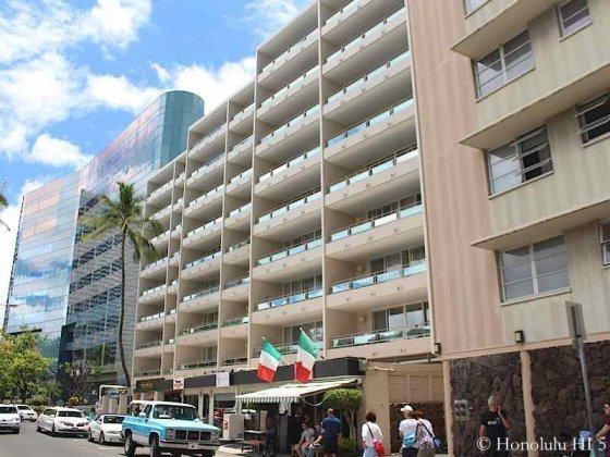 Regency On Beachwalk Waikiki - Can Also See Restaurants on Ground Level