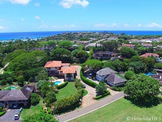Kahala Puupanini Luxury Homes - Drone Photo