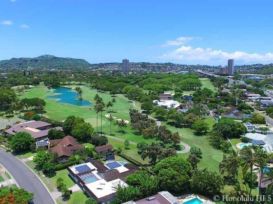Waialae Golf Course Homes - Drone Photo