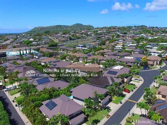 Nohona at Kahala Homes Drone Photo - Lower Wilhelmina Rise
