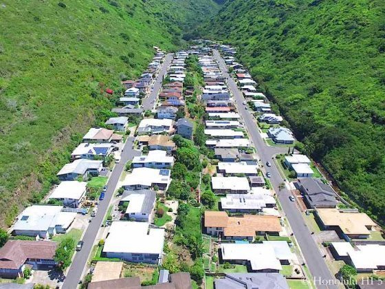 Waialae Nui Valley Homes - Drone Photo