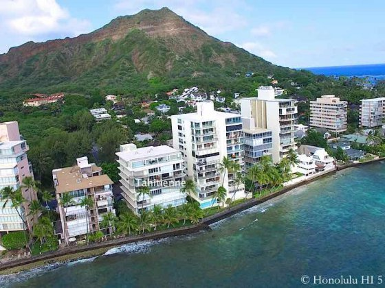 Tahitienne Condo on Hawaii's Gold Coast - Drone Photo