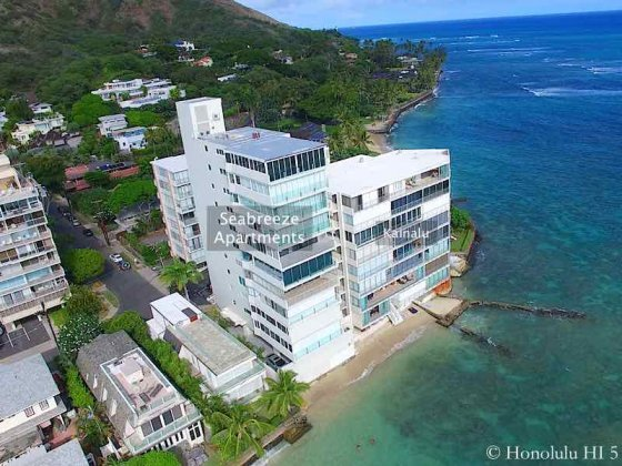 Seabreeze Apartments on Hawaii's Gold Coast - Drone Photo