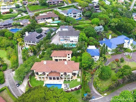 Luxury Houses On Judd Hillside Road in Manoa - Drone Photo
