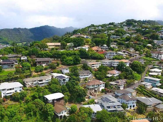Pacific Heights Homes in Honolulu - Drone Photo