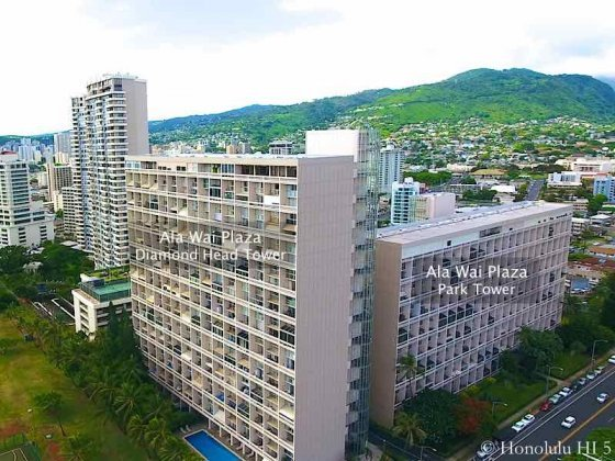 Ala Wai Plaza - Drone Photo