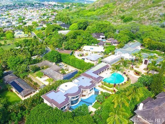 Luxury Homes on Noela Drive and Diamond Head Circle - Drone Photo