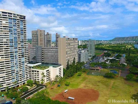 Kapiolani Condos - Drone Photo