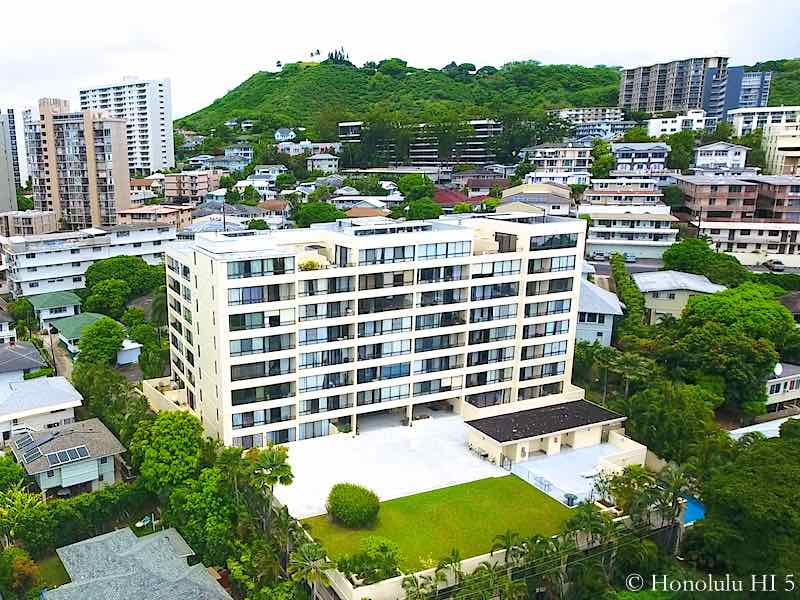 Bel-Air Plaza Honolulu Condo - Drone Photo