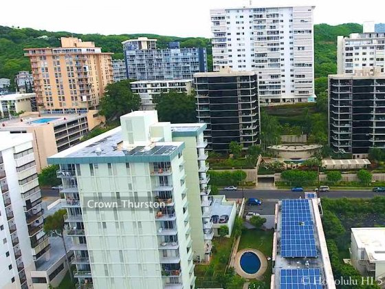 Crown Thurston Honolulu Condo - Drone Photo