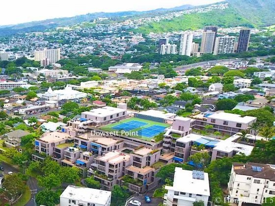 Dowsett Point Punchbowl Honolulu Condos - Drone Photo