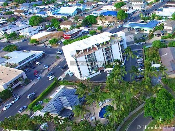 Diamond Head Hillside Condo - Drone Photo