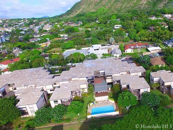 Diamond Head Sands Condo - Drone Photo