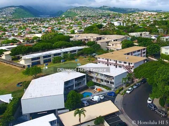 Diamond Head Terrace Condo - Drone Photo