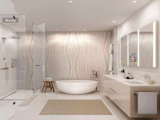 Waiea Master Bathroom Rendering