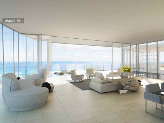 Waiea Grand Penthouse Living Room Rendering