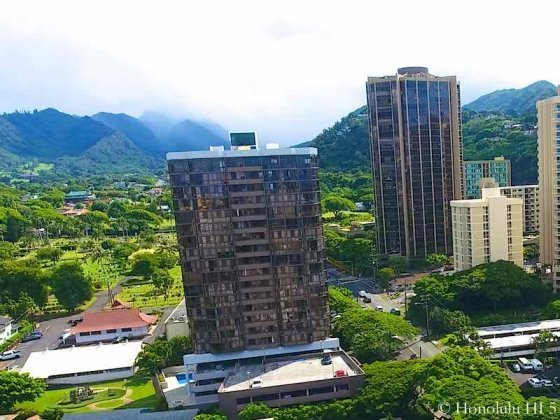 2040 Nuuanu Condo - Aerial Photo