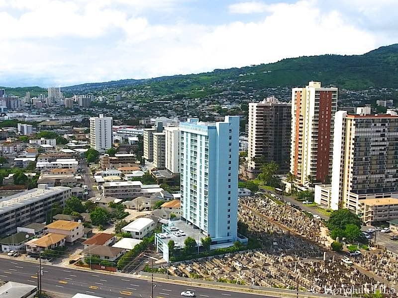 Rainbow Place Condo in Honolulu - Aerial Photo