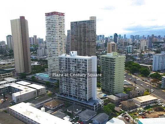 Plaza at Century Court Condo in Honolulu - Aerial Photo