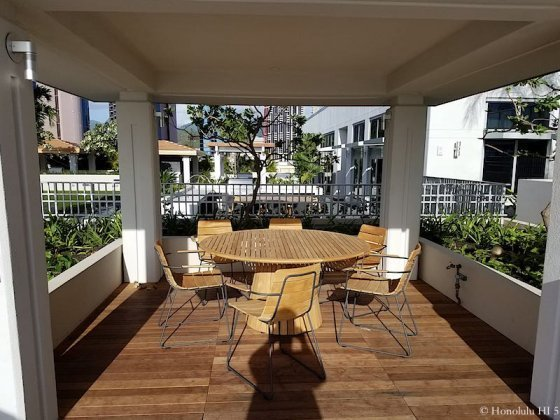 Collection Honolulu Dining Table On Amenities Deck
