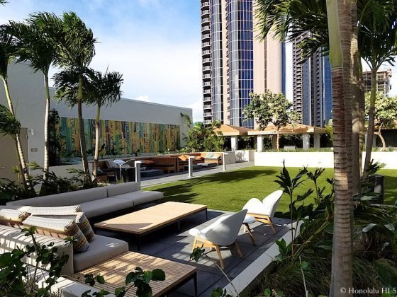 Collection Honolulu Outdoor Amenities Deck Sofas and Lawn