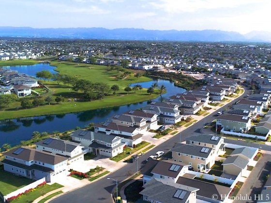 Hoakalei Golf Course Homes - Drone Photo